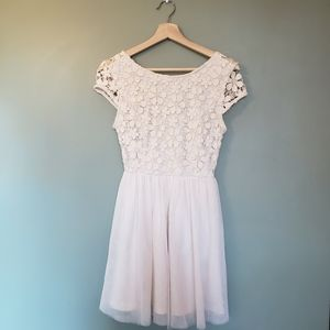 Price drop❣White Forever 21 Lace Layered Dress